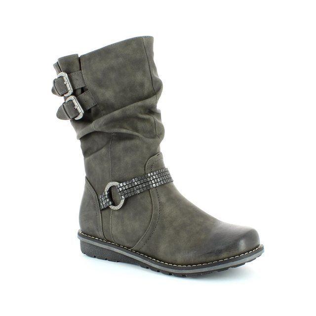 Rieker K0276-45 Dark grey multi ankle boots