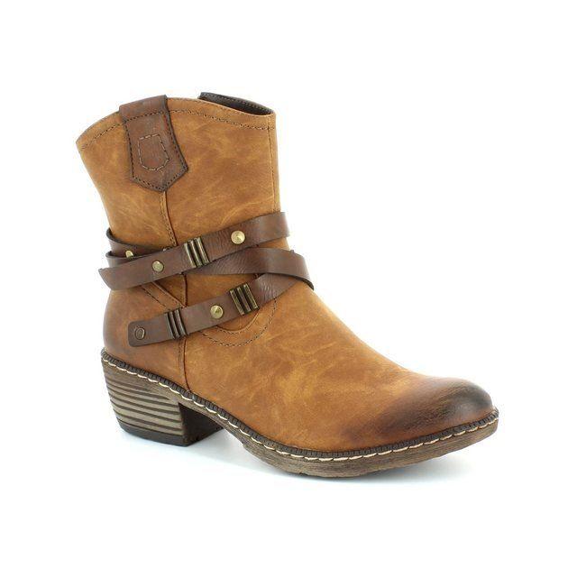 Rieker K1472-24 Tan ankle boots