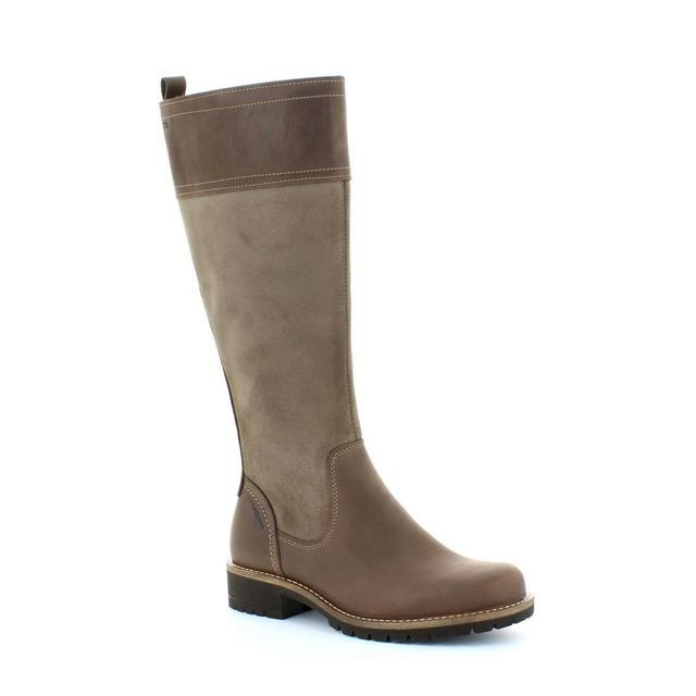 ECCO Elaine Hydroma 244653-59360 Tan long boots
