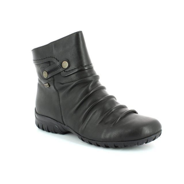 Rieker Z4652-00 Black ankle boots