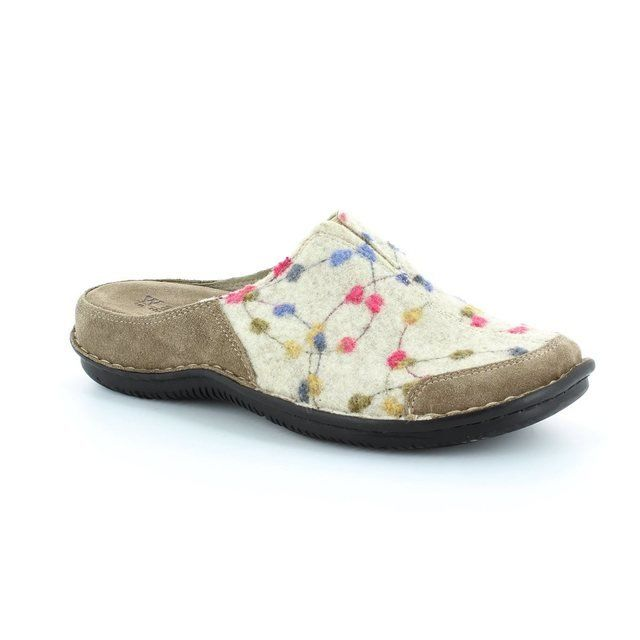 Walk in the City Lagoto 4988-32010 Beige multi slipper