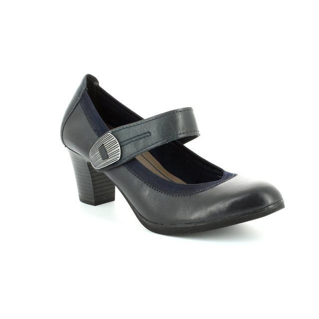 Marco Tozzi Grestabar 24420-892 Navy heeled shoes