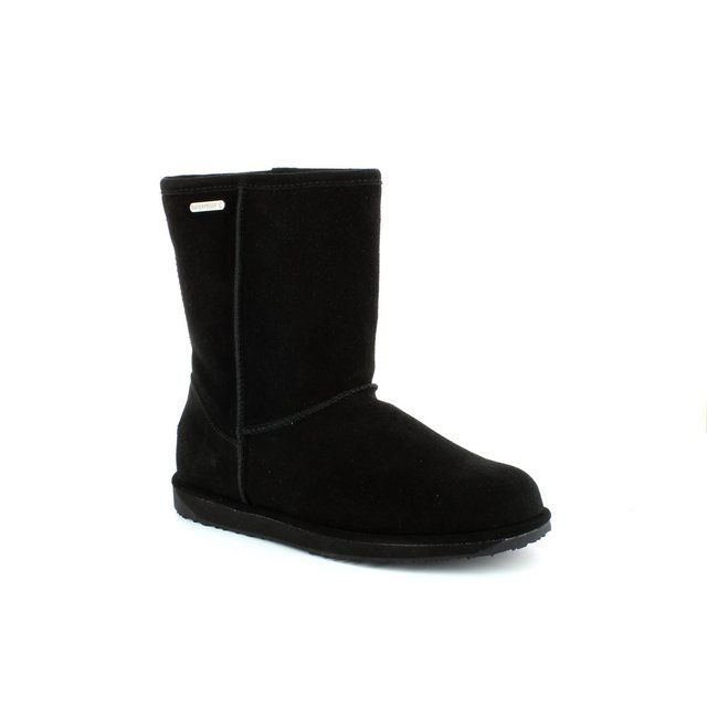 EMU Australia Boots - Ankle - Black suede or snake - W10771/30 PATERSON LO
