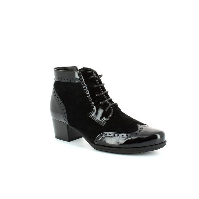 Gabor Gabrola 36.668.47 Black patent/suede ankle boots