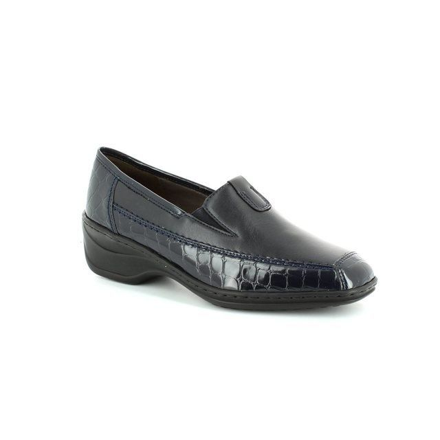 Ara Regginova 12 2261114-12 Navy croc comfort shoes