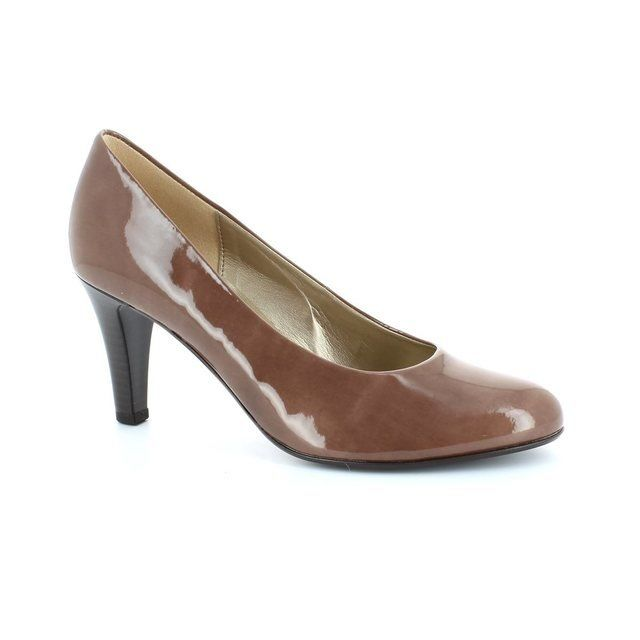 Gabor Operator 35.210.70 Taupe patent heeled shoes