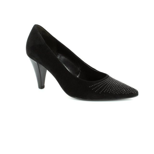Gabor Pointedia 31.281.17 Black suede high-heeled shoes