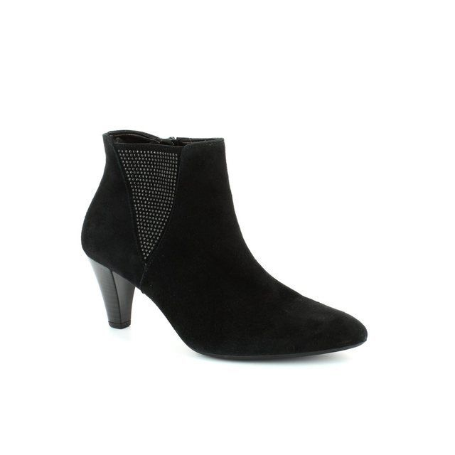 Gabor Pointevie 31.701.17 Black suede ankle boots