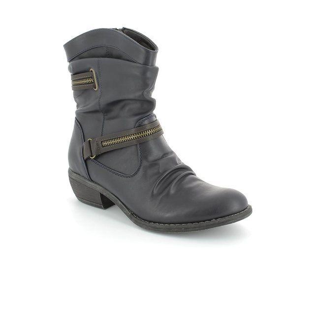 Rieker Boots - Ankle - Navy - 92982-14 EAGREZIP