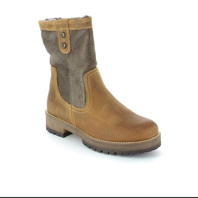Tamaris Pitimber Tex 26465-440 Tan multi ankle boots