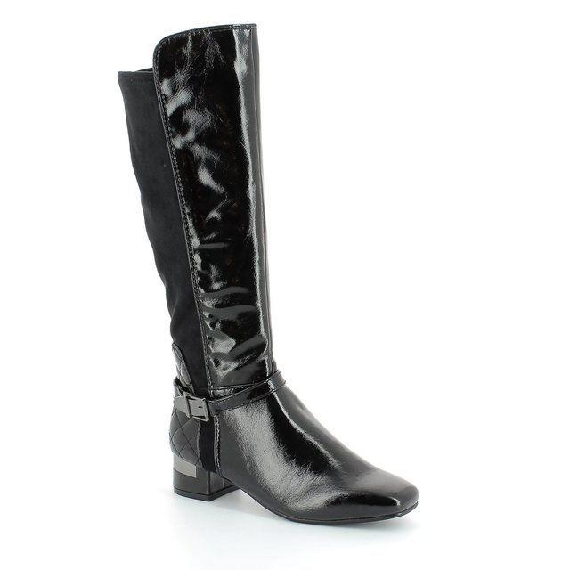 Marco Tozzi City 52 25540-098 Black patent long boots