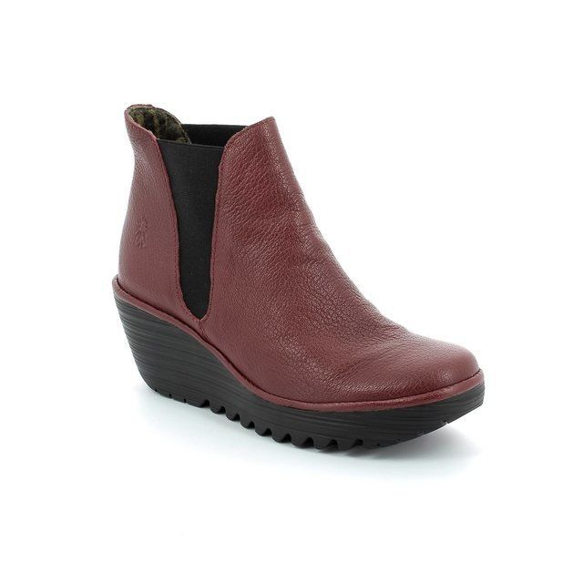 Fly London Boots - Ankle - Red - P500431021 YOSS
