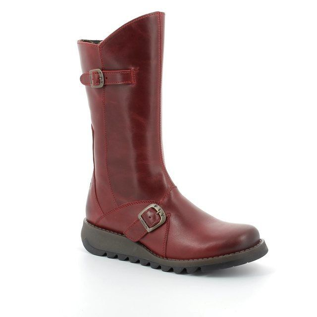 Fly London Boots - Long - Red - P142913001 MES 2