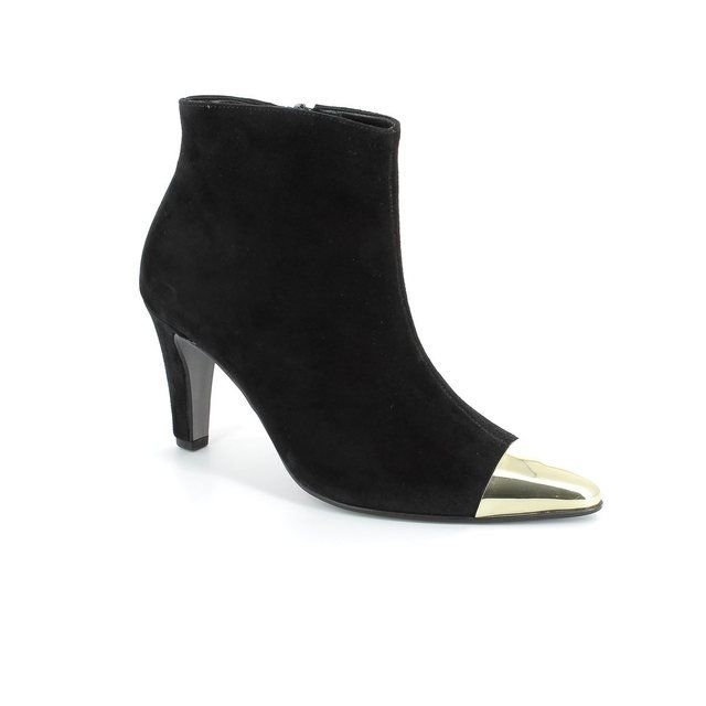 Gabor Boots - Ankle - Black suede or snake - 71.700.17 GEPARD