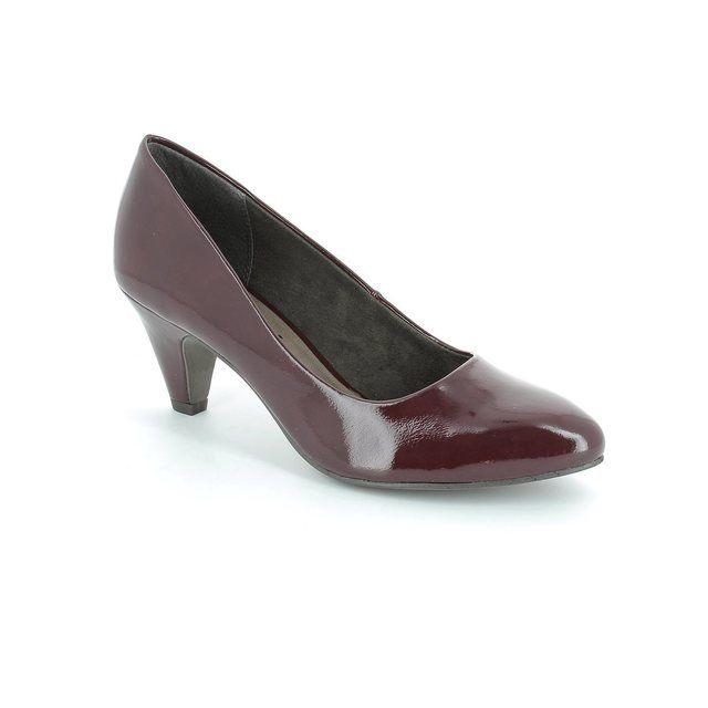 Tamaris Heeled Shoes - Wine patent - 22416/580 CRESSCO