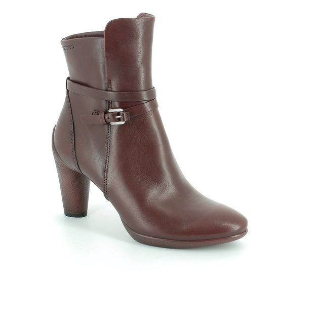 ECCO Sculptured 75 242663-01070 Wine ankle boots
