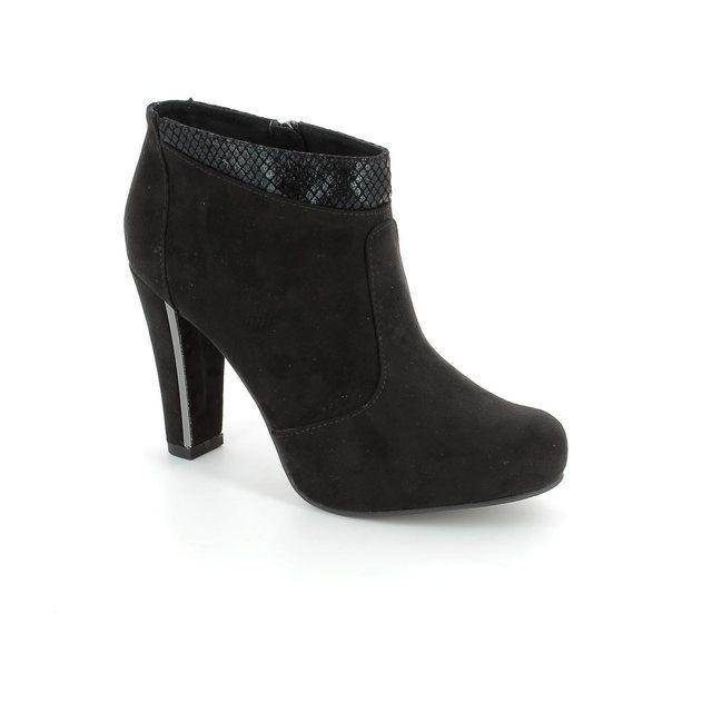 Tamaris Carradank 25052-052 Black suede ankle boots