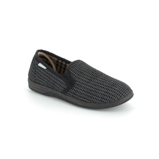 Lotus Bevis Black slippers