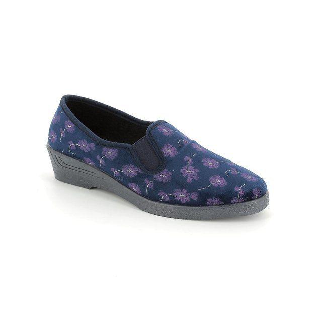 Rondinaud Jerbo 6182-12 Navy multi slippers