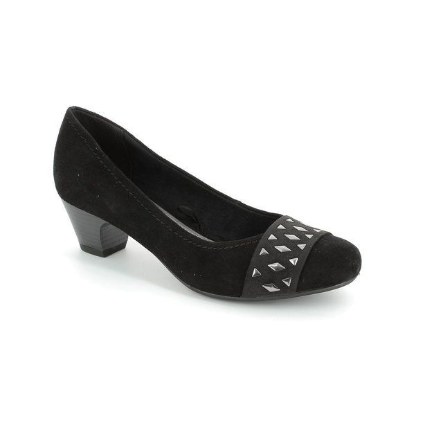 Marco Tozzi Astrata 22301-001 Black suede heeled shoes