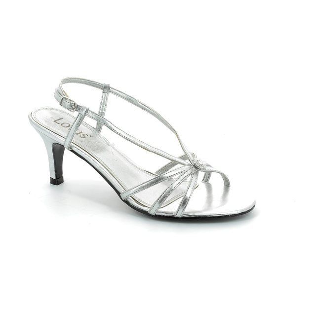 Lotus Heeled Shoes - Silver - 5570/00 VIVIANA