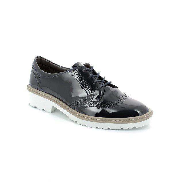 Ara 2260006-08 Navy patent lacing shoes