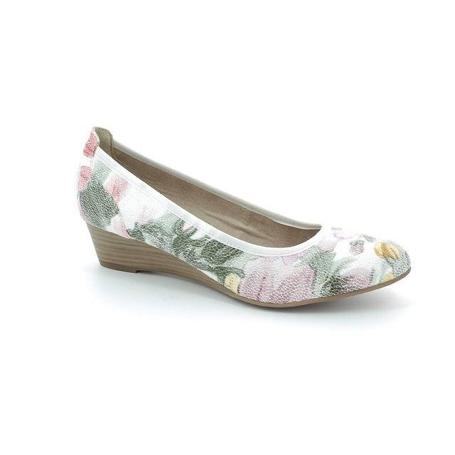 Tamaris Heeled Shoes - Floral print - 22304/504 QUIVER