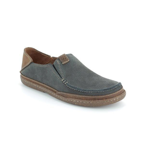Clarks Shoes - Navy/tan - 1505/97G TRAPELL FORM
