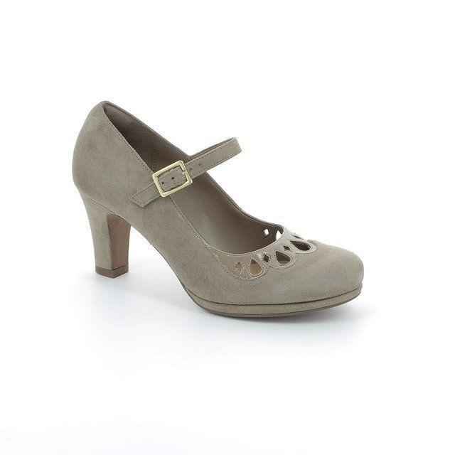 Clarks Chorus Music Beige multi high-heeled shoes