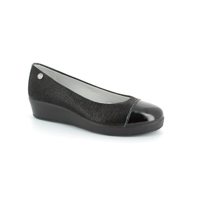 IMAC 51801-7453011 Black patent/suede pumps