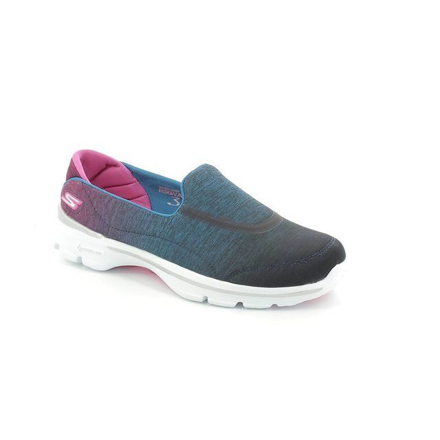 Skechers Go Walk 3 13993 BLU Blue trainers