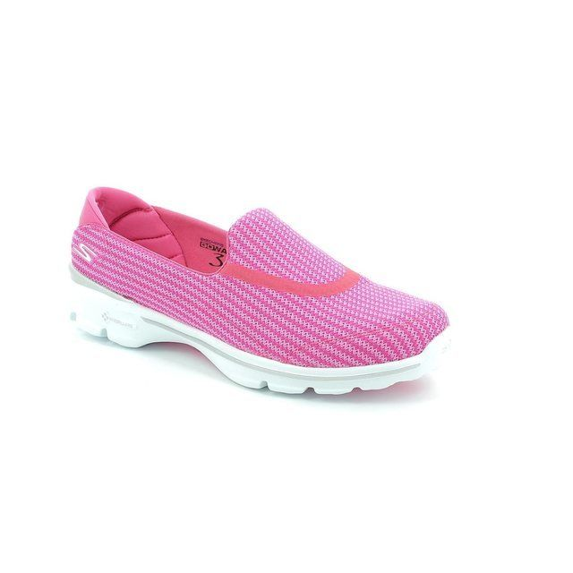 Skechers Trainers & Canvas - Hot Pink - 13980/06 GO WALK 3