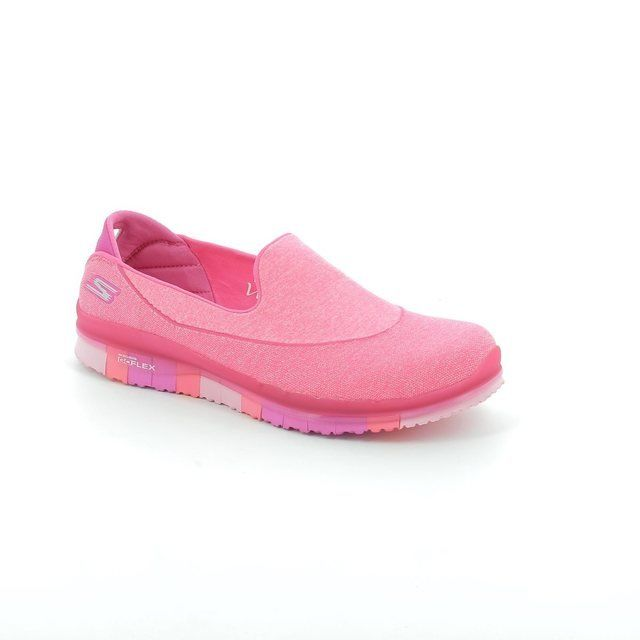 Skechers Go Flex 14010 HPK Hot Pink trainers