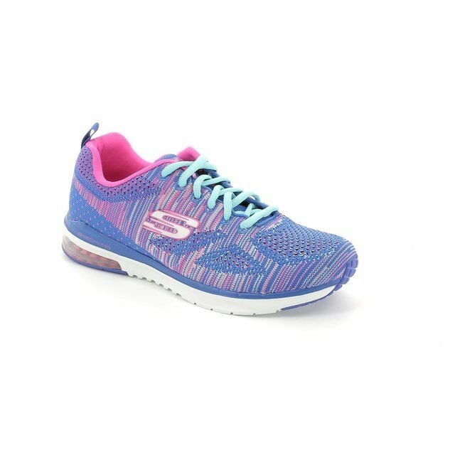 Skechers Skechair Knit 12113 BLHP Blue-Pink trainers