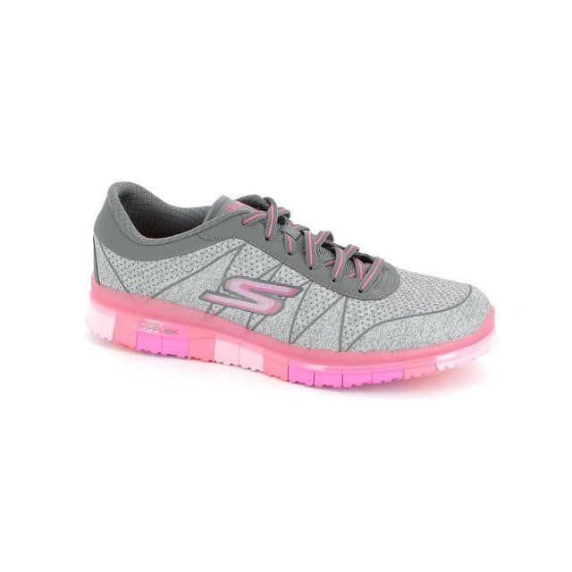 Skechers Go Flex Lace 14011 GREY Grey trainers