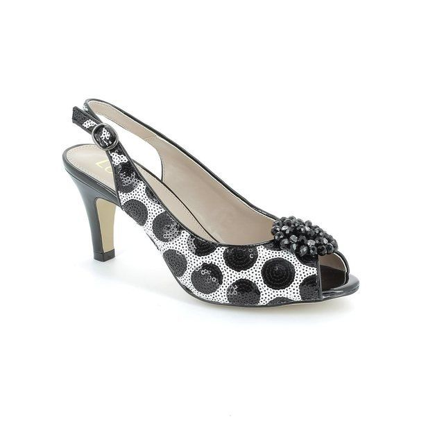 Lotus Fascination Black white heeled shoes