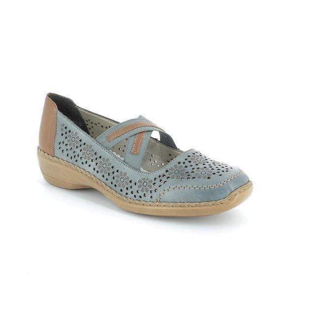 Rieker 41325-12 Denim blue comfort shoes