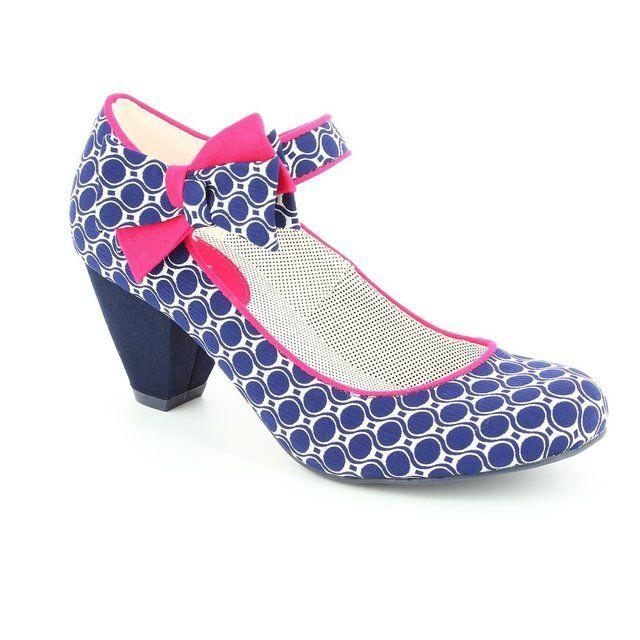 Ruby Shoo Piper 61 08911-70 Navy multi high-heeled shoe