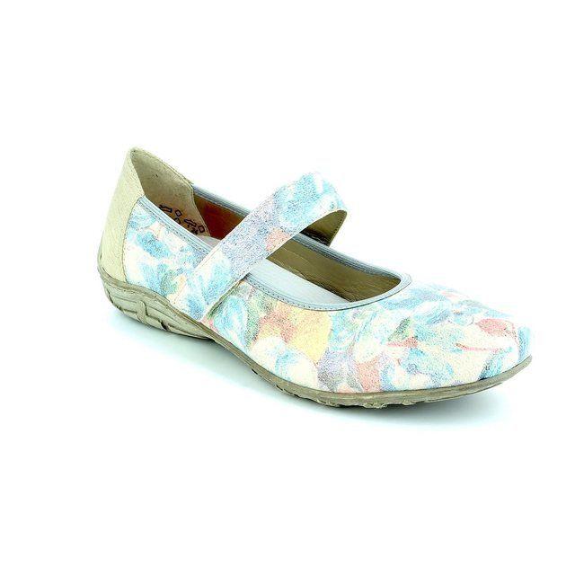 Rieker Pumps & Ballerinas - Blue-Floral - L2062-90 RIPPLE