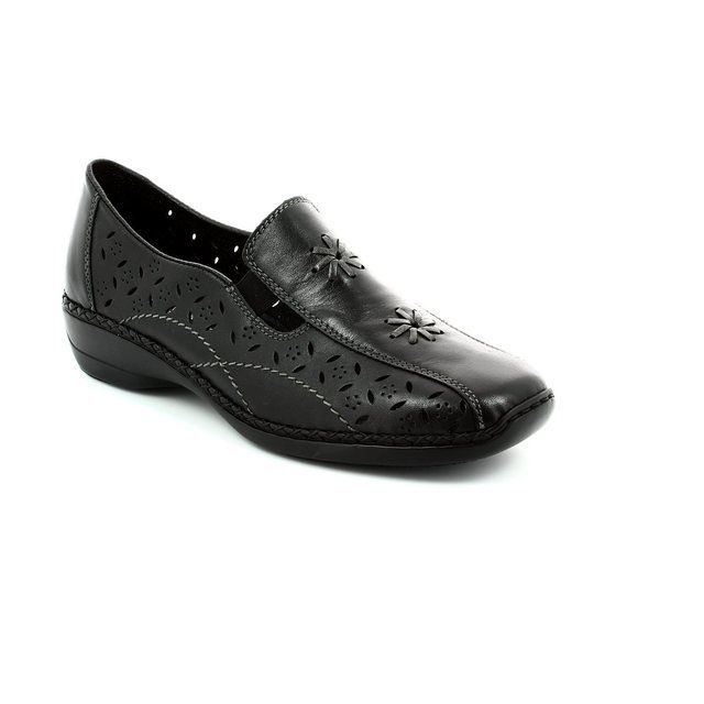 Rieker 41397-00 Black comfort shoes