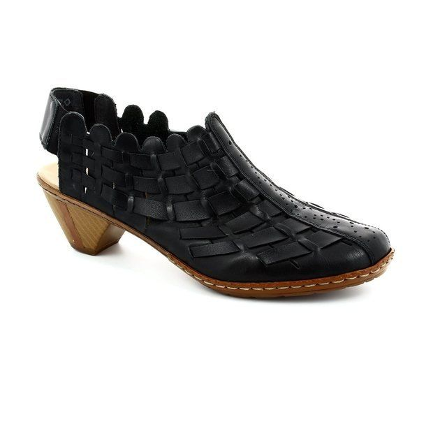 Rieker 46778-01 Black heeled shoes