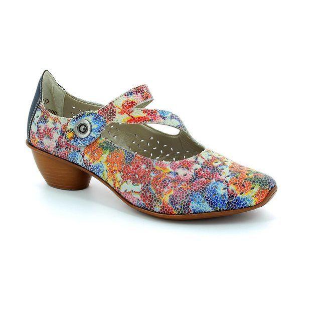 Rieker 43777-90 Floral print comfort shoes