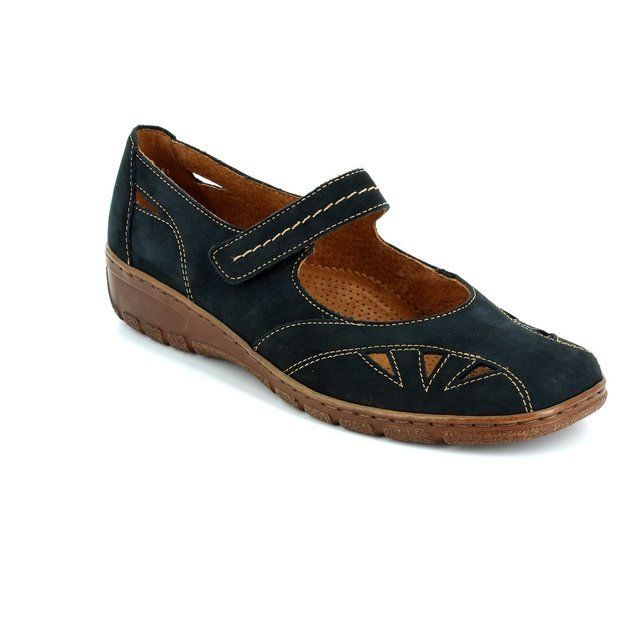 Ara 2258469-11 Navy nubuck comfort shoes