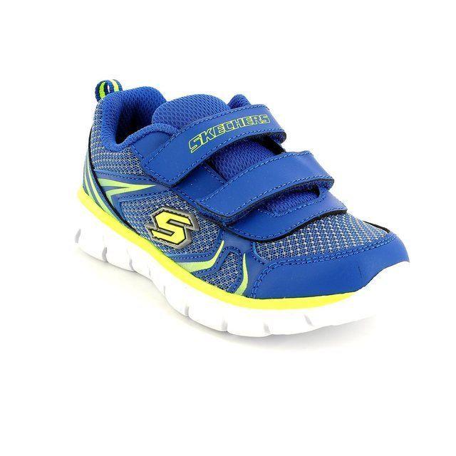 Skechers Mini Sprint 95091 BLU Blue first shoes