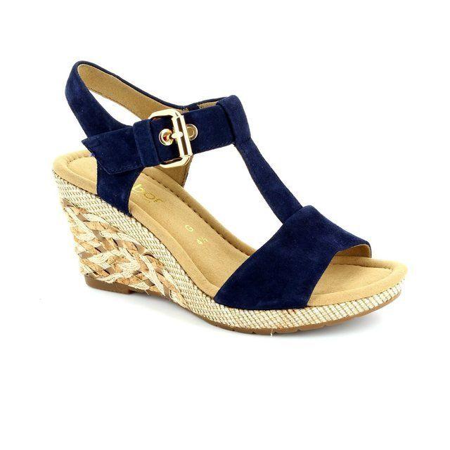 Gabor Karen Milan 42.824.16 Navy suede sandals