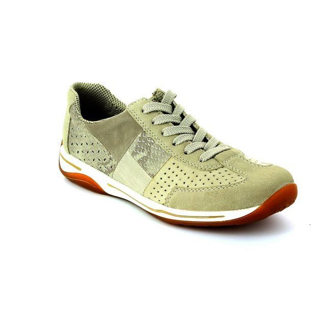 Rieker L6236-62 Beige multi lacing shoes