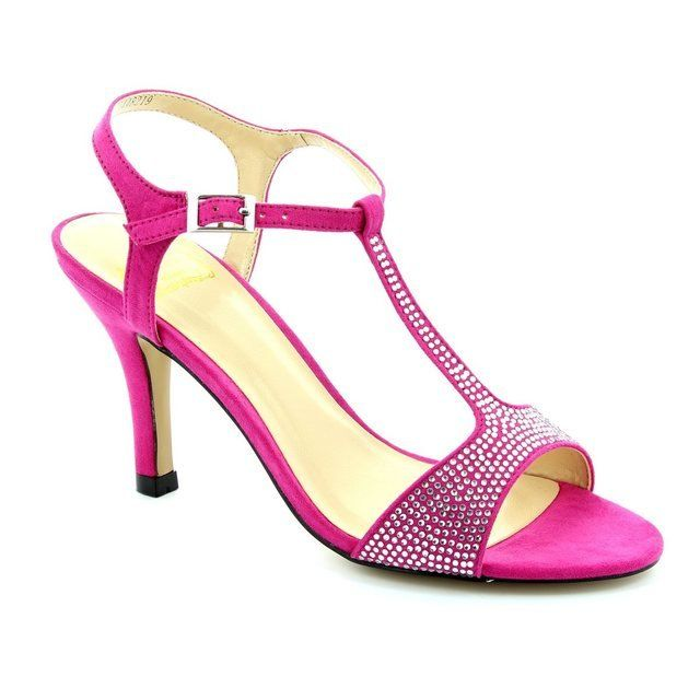 Lotus Heeled Shoes - Fuchsia - 50535/60 FENELLA