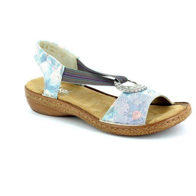 Rieker 62822-91 Floral print sandals
