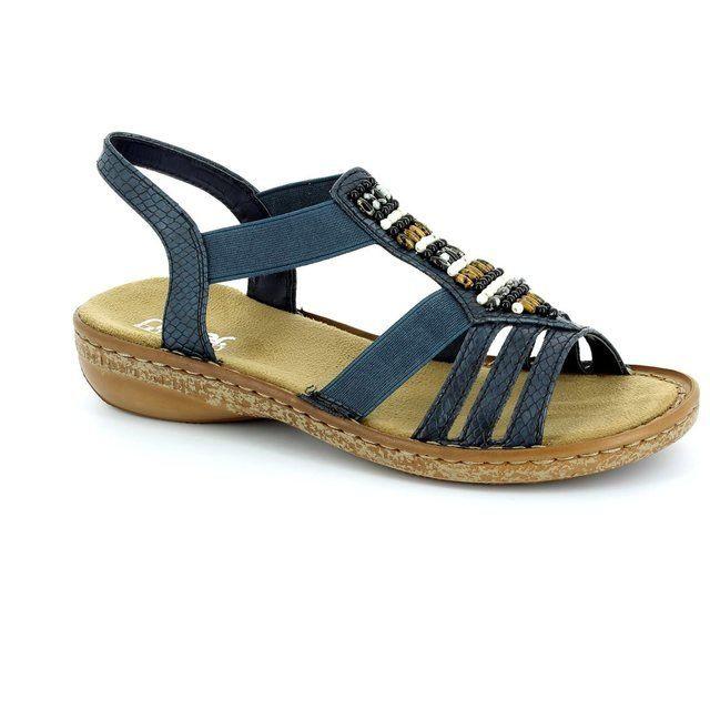 Rieker 62851-14 Navy sandals
