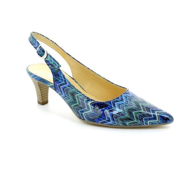 Gabor Hume 41.550.96 Blue high-heeled shoes